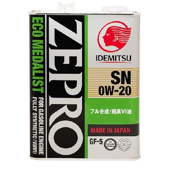 Idemitsu Zepro eco medalist 0w20 4л
