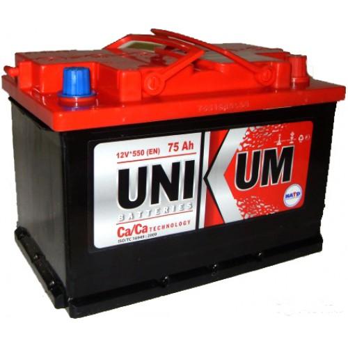 Автоаккумуляторы Unikum