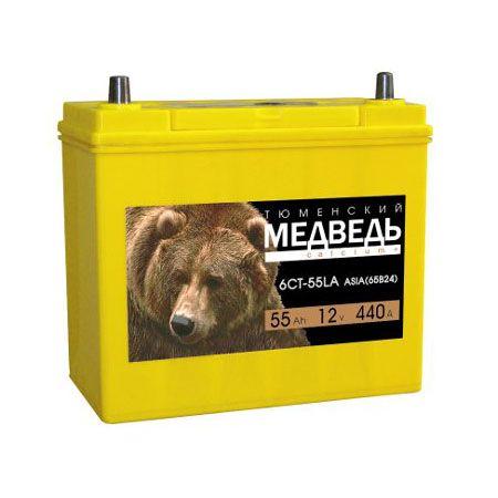 Аккумулятор Тюменский медведь ASIA 55 Ач обр.