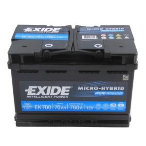 Аккумулятор Micro-Hybrid AGM 70 Ач (EK700) обр.