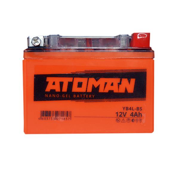 Аккумулятор ATOMAN AGM 4 Ач сухозаряженный