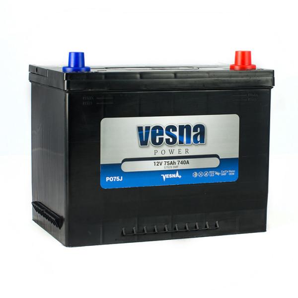 Аккумулятор VESNA POWER 75 Ач обр.
