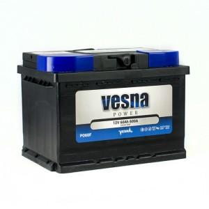 Аккумулятор VESNA Power 60 Ач (TAB) обр.