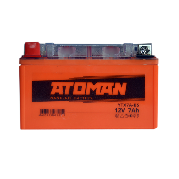 Аккумулятор ATOMAN AGM 7 Ач сухозаряженный