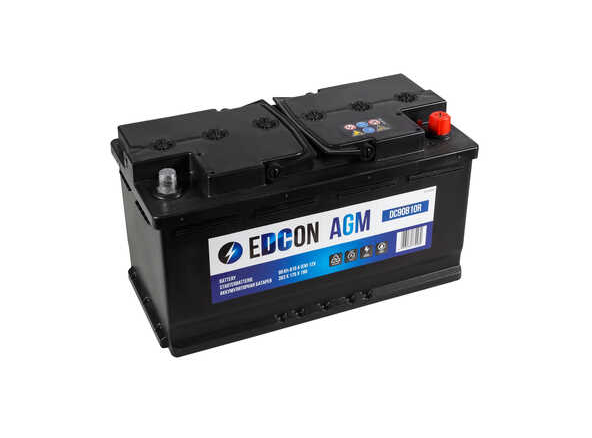 Аккумулятор EDCON AGM 90 AH (DC90810R) обр.